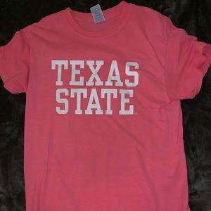 light pink Texas State tee